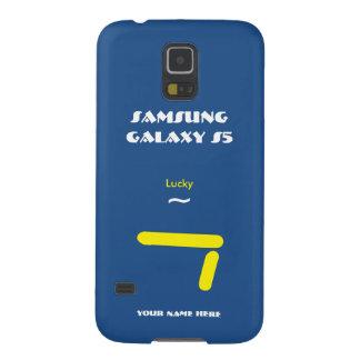 Caixa 7 Blue2 afortunada da galáxia S5 de Samsung Capinhas Galaxy S5