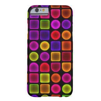 Caixa abstrata colorida capa barely there para iPhone 6