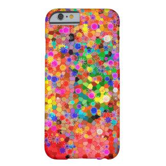 Caixa abstrata colorida da flor capa barely there para iPhone 6