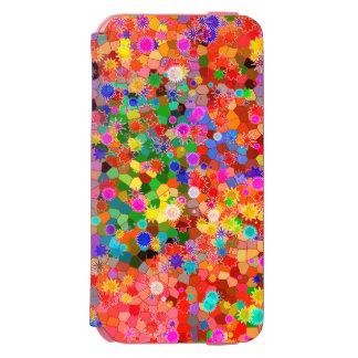 Caixa abstrata colorida da flor capa carteira incipio watson™ para iPhone 6