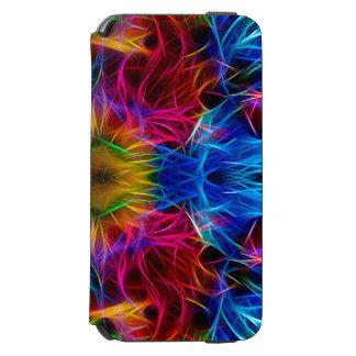 Caixa abstrata colorida do teste padrão capa carteira incipio watson™ para iPhone 6