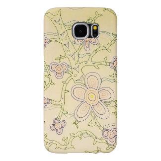 Caixa abstrata da galáxia S6 do jardim (vintage) Capas Samsung Galaxy S6