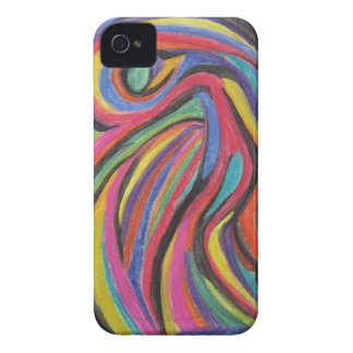Caixa abstrata de Blackberry Capas Para iPhone 4 Case-Mate