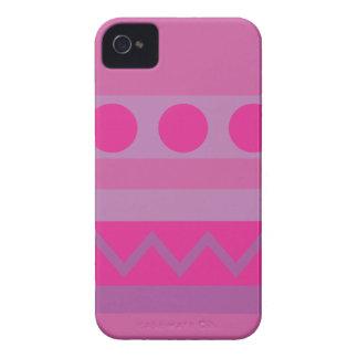 Caixa abstrata de Blackberry dos padrões do roxo Capinhas iPhone 4