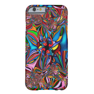Caixa abstrata lustrosa colorida capa barely there para iPhone 6