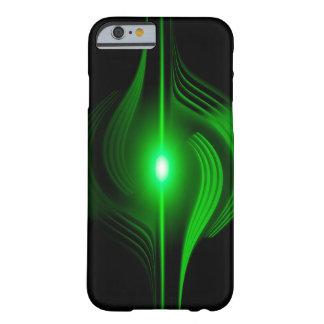 Caixa abstrata preta e verde capa barely there para iPhone 6