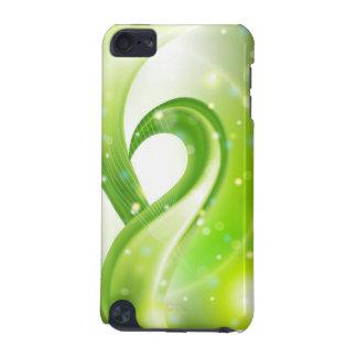 Caixa abstrata verde do teste padrão capa para iPod touch 5G