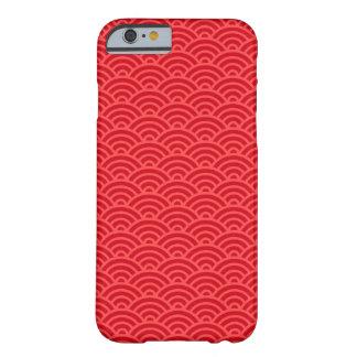 Caixa abstrata vermelha do iPhone 6 do teste Capa Barely There Para iPhone 6