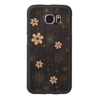 Caixa abundante da galáxia S6 de Samsung da cereja Capa De Madeira Para Telefone