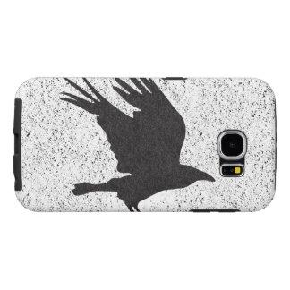 Caixa afligida da galáxia de Samsung do corvo Capas Samsung Galaxy S6