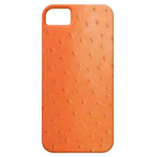 Caixa alaranjada da case mate da pele da avestruz capa para iPhone 5