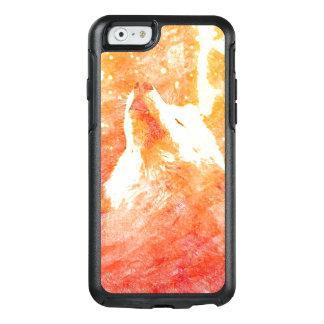 Caixa alaranjada do iPhone 6/6s Otterbox do lobo