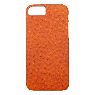Caixa alaranjada exótica do iPhone 7 do couro da Capa iPhone 8/ 7