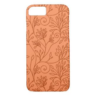 Caixa alaranjada floral elegante do iPhone 7 Capa iPhone 7