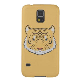 caixa amarela da galáxia S5 de Samsung do tigre Capinhas Galaxy S5