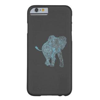 Caixa azul/cinzenta do iPhone 6 do elefante Capa Barely There Para iPhone 6