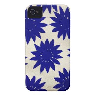 caixa azul da amora-preta de flower power capinhas iPhone 4