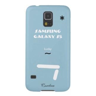 Caixa azul da galáxia S5 de Carolina Samsung Capas Par Galaxy S5