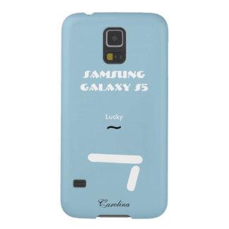 Caixa azul da galáxia S5 de Carolina Samsung Capinhas Galaxy S5