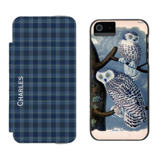 Caixa azul da xadrez e da carteira do iPhone 5S