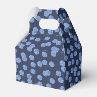 Caixa azul do favor do frontão das bolinhas