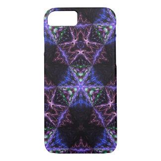 Caixa azul do Fractal do azulejo do espelho Capa iPhone 7