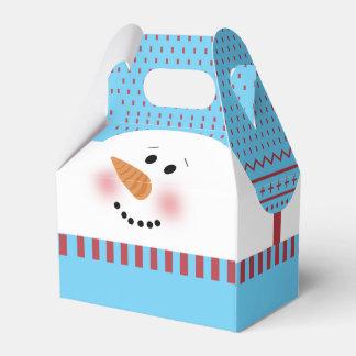 Caixa azul do frontão do boneco de neve