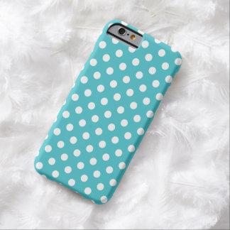 Caixa azul do iPhone 6 das bolinhas de Curaçau Capa Barely There Para iPhone 6