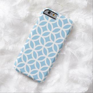Caixa azul do iPhone 6 do Cornflower geométrico Capa Barely There Para iPhone 6