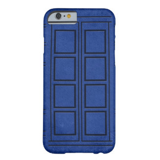 Caixa azul do iPhone 6 do jornal da caixa de Capa Barely There Para iPhone 6