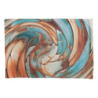 Caixa azul do travesseiro da arte abstracta da