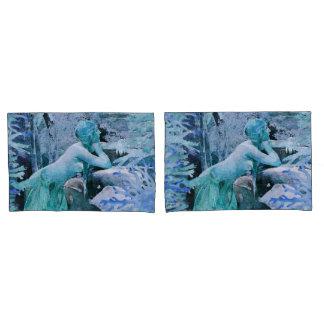 Caixa azul do travesseiro dos pares da fantasia da