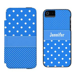 Caixa azul e branca da carteira do iPhone 5 das