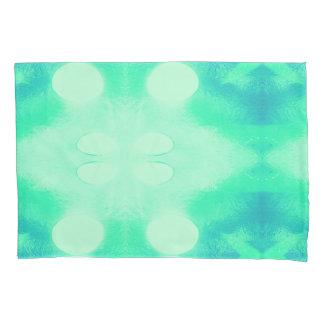 Caixa azul e verde do travesseiro de Ikat
