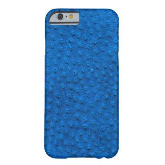 Caixa azul exótica do iPhone 6 do couro da Capa Barely There Para iPhone 6