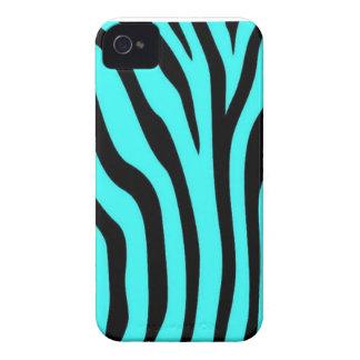 Caixa azul original do impressão da zebra para o capa para iPhone