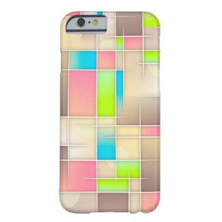 Caixa bege da arte abstracta capa barely there para iPhone 6