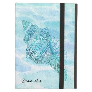 Caixa bonita do ar do iPad dos Seashells