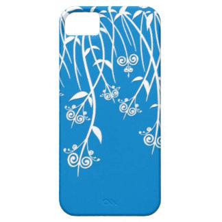 Caixa bonita do azul-céu e os brancos e cobrir capa barely there para iPhone 5
