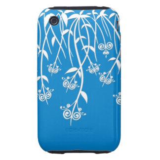 Caixa bonita do azul-céu e os brancos e cobrir capa iPhone 3 tough