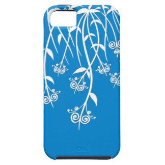 Caixa bonita do azul-céu e os brancos e cobrir capa para iPhone 5