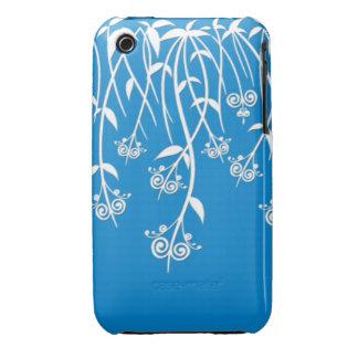 Caixa bonita do azul-céu e os brancos e cobrir capas para iPhone 3 Case-Mate