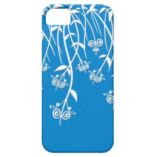 Caixa bonita do azul-céu e os brancos e cobrir capas para iPhone 5