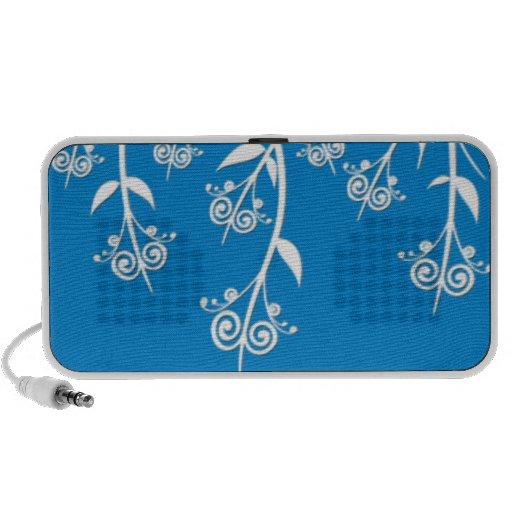 Caixa bonita do azul-céu e os brancos e cobrir flo caixinha de som para mp3