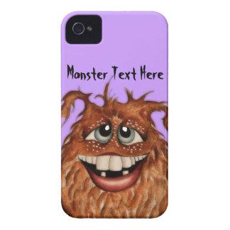 Caixa bonito de Blackberry da cara do monstro Capinhas iPhone 4