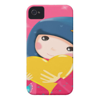 Caixa bonito de Blackberry da menina Capa Para iPhone 4 Case-Mate