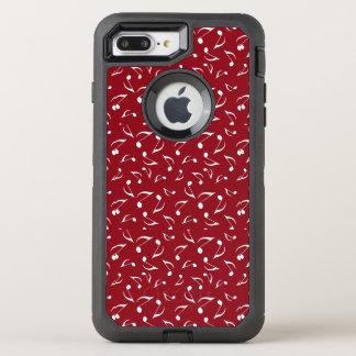 Caixa branca da lontra do design das notas capa para iPhone 7 plus OtterBox defender