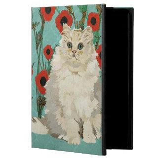 Caixa branca do iPad do gato