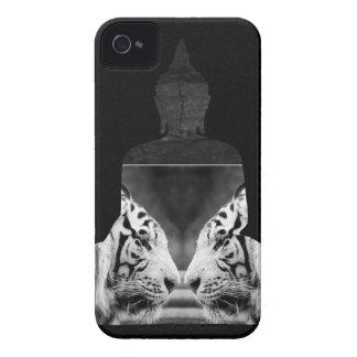 Caixa branca do iPhone 4s do tigre de Buddha Capa Para iPhone 4 Case-Mate