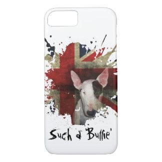 Caixa branca do iPhone 7 de bull terrier Union Capa iPhone 7